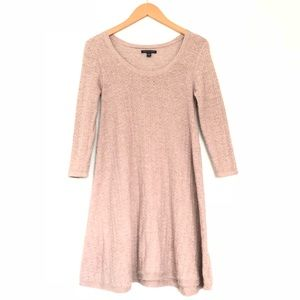 American Eagle Taupe Knit Sweater Dress 3/4 Sleeve